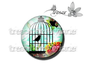 PA447 cabochons glass manual Retro, Cages, birds, Lolita