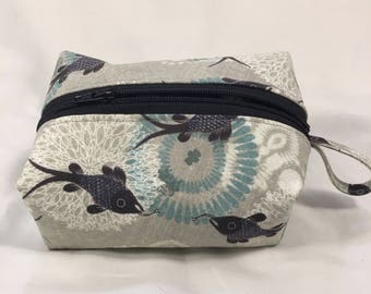 Fish Print Makeup Bag