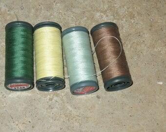 4 spools of thread to sew DMC 100% polyester