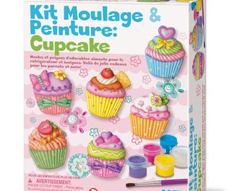 Kit creative cast plaster and paint: CUPCAKE / DIY kit molding and painting for children