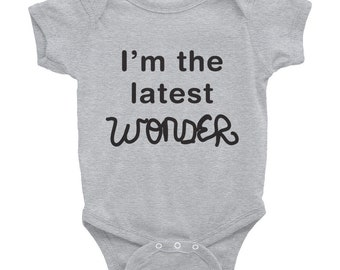 Baby Wonder Movie onesie Infant Bodysuit  Choose Kind Kindness maternity baby shower gift RJ Palacio were all wonders positive message