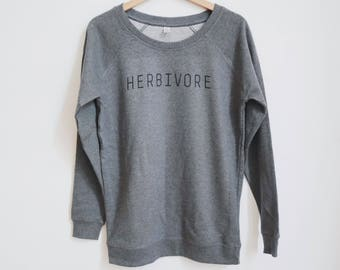 Herbivore Women's Sweatshirt vegan organic cotton fair trade  FREE SHIPPING