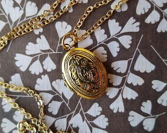 Gold Oval Locket