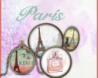 50 images printable Paris theme