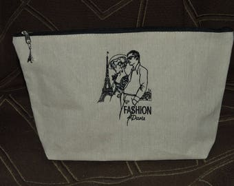 embroidered pouch has machine