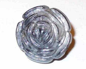 """1 Pearl flower """"rose"""" grey 18mm AR82 grey"""