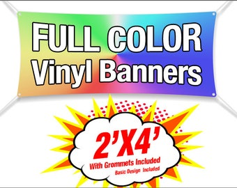 2'X4 Banner Full Color