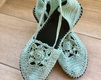 Crocheted Bohemian Sandals