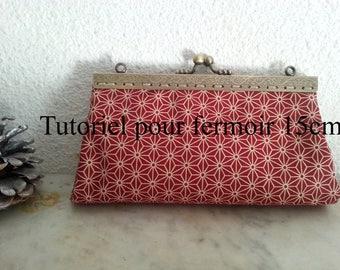 tutorial for door clasp coin shaped rectangular 15 cm