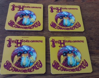 set of 4 brand new   ARE YOU EXPERIENCED   album cover drink coasters