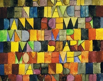 SET of TABLE semi-rigid ORIGINAL AESTHETIC WASHABLE and durable - Abstract artists - Paul Klee bis - classic.