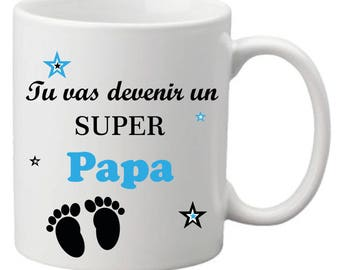 "Mug ""You're going to become a super Dad"""