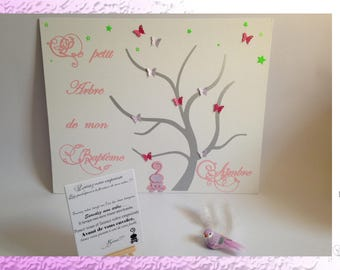 Tree baptism - cat prints and butterflies