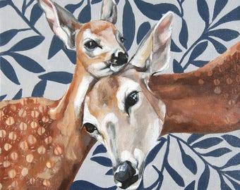 Doe and Deer