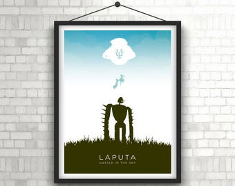 LAPUTA   |   Castle In The Sky, Studio Ghibli   |   Minimalist Illustration Poster Print