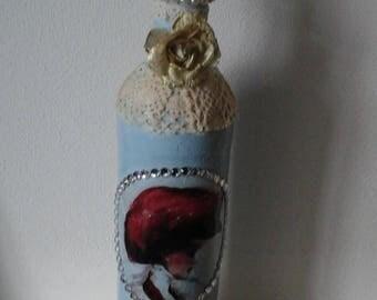 Decoupage, shabby chic style bottle