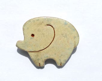 Ceramic Handmade Brooch