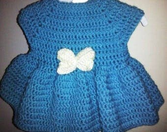 Infant crochet dress