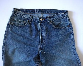 Vintage 80s Levis 501 Made in USA Men's Denim Jeans Tag Size 34 x 32