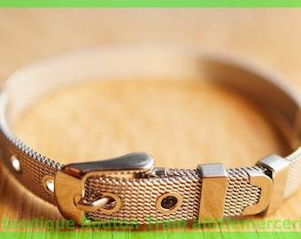 metal silver mesh bead width 8mm bracelet