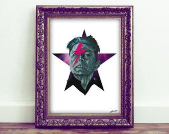 Bowie's in Space - A3 Digital Print