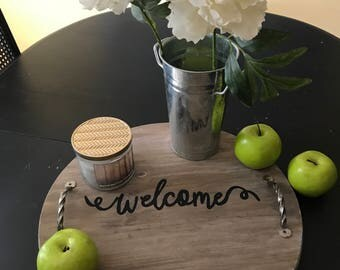Welcome Serving Tray