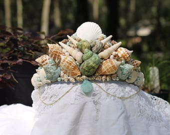 Mermaid Crown - Seashell Crown - Handmade