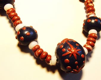 Fimo necklace * the snowflake to fall *.