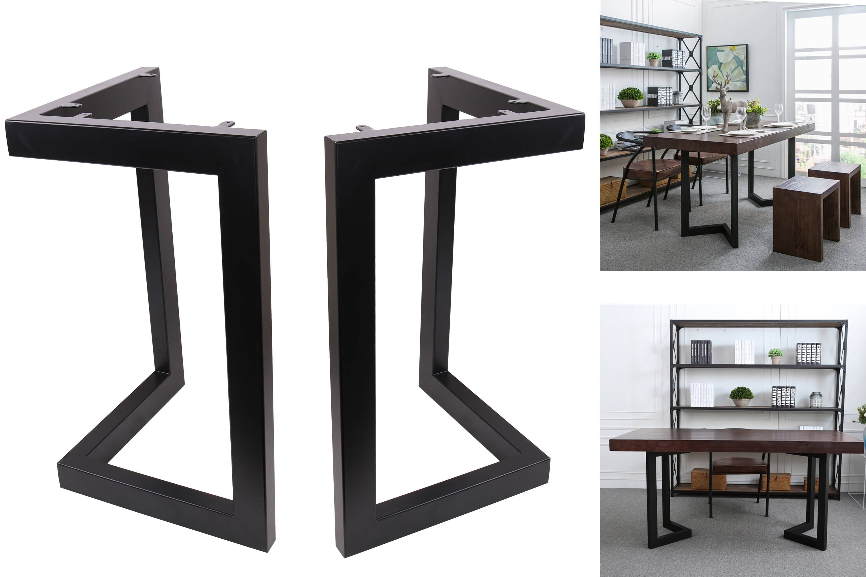 high quality 28 dining table legs l shaped steel table. Black Bedroom Furniture Sets. Home Design Ideas