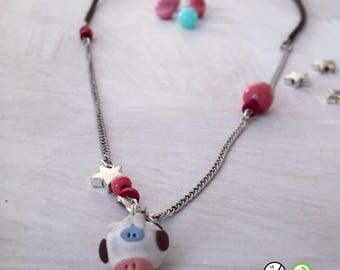Necklace in fimo ' Tettamanza ' of ' the Roofs ® '.