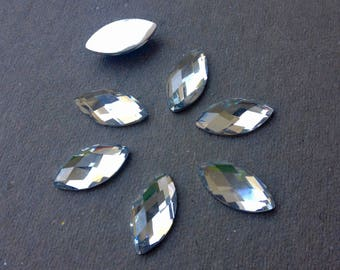CABOCHON RHINESTONE Marquise diamond 18 X 14 mm 8 rhinestones (S34) color