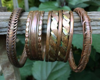 Copper and Brass bracelets