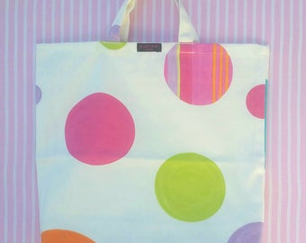 Handmade cotton fabric carrier bag