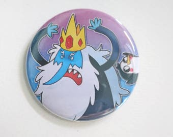 Adventure time - Ice King and Gunter badge