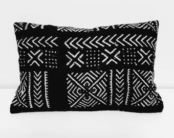 Mud Cloth Lumbar Cushion Cover