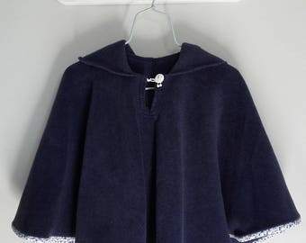 Girl 3 to 5 years hooded Cape