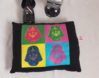 Colorful Darth Vader pillow