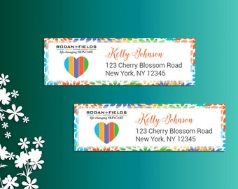 Rodan and Fields Return Address Labels, Fast Personalized, Rodan + Fields Independent Consultant, Rodan and Fields  Business Cards, RF01