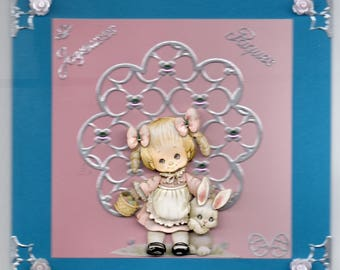 3D card morehead children Easter rabbit 6