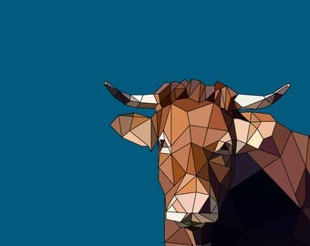 Mr Limousin - Animal Canvas Art