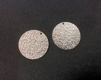 6 glitter sequins 25mm silver jewelry designs