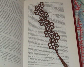 Tatted bookmark / Bookmark lace tatted