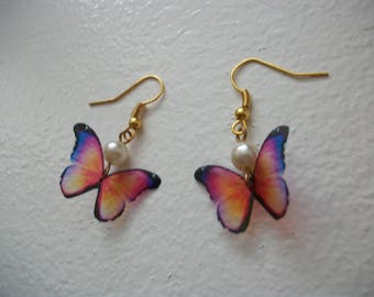 Butterfly, unique earrings hand made.