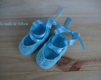 mini Blue decorative ballet shoes