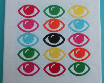 Eyes embroidered table