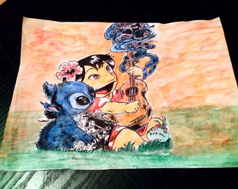 Lilo and stitch illustration