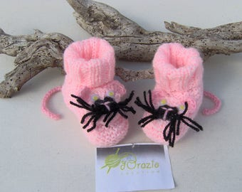 BABY PINK PANTHER BOOTIES HANDS