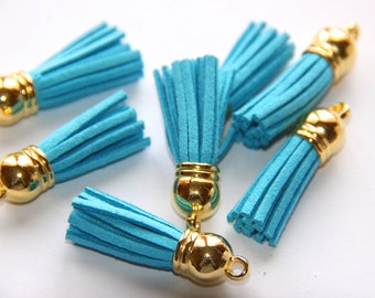 BLUE TASSEL SUEDE TURQUOISE 38MM