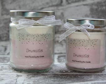 Drumstick Scented Soy Wax Candles, Jar Candles, Container Candles, Highly Scented Candles, Sweet Candles