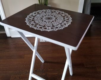 UPCYCLED TV Tray Side Table